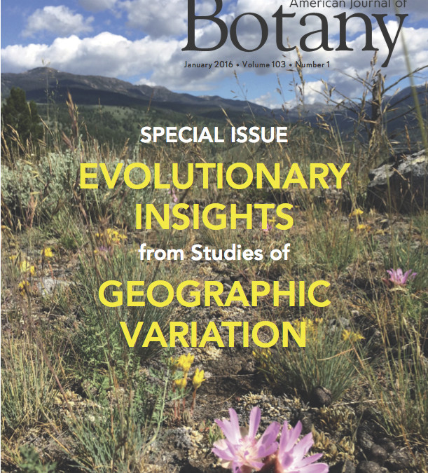Jan. 2016: New paper in American Journal of Botany on the beta-diversity of species interactions