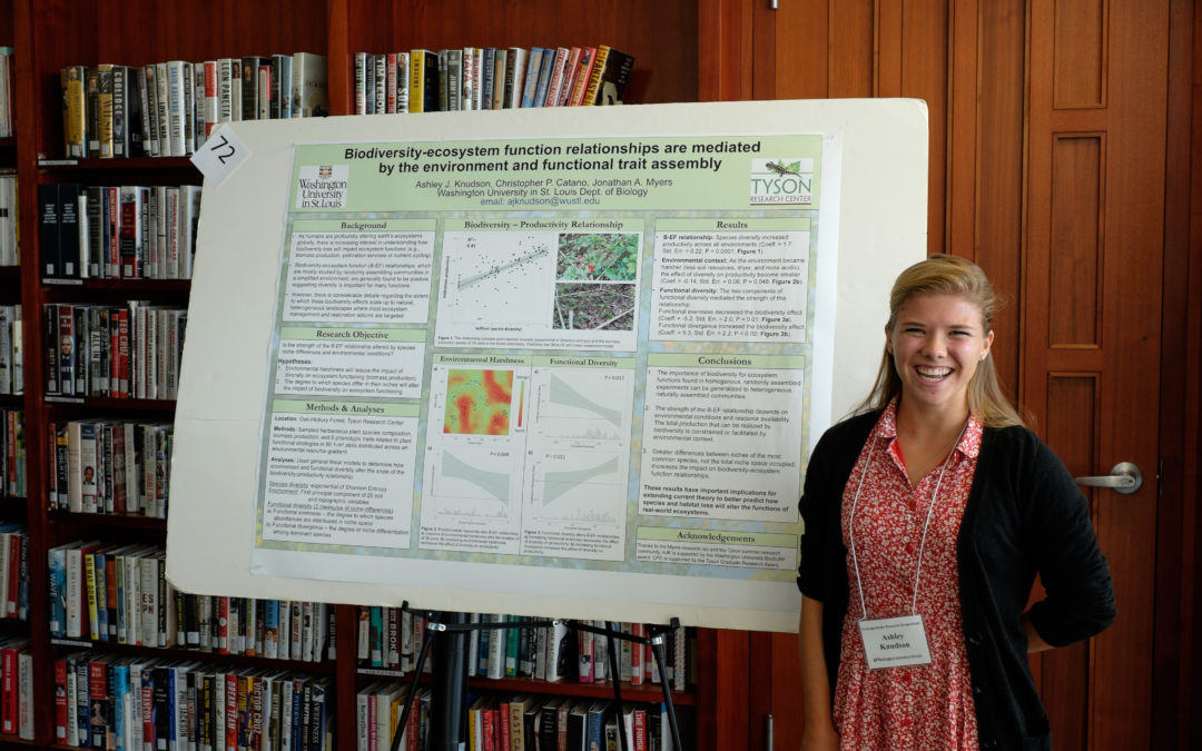 Ashley presents at undergraduate research symposium